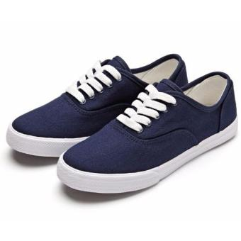 Women Canvas Sneakers Shoes Buy 1 Take 1 - Blue and White - 2