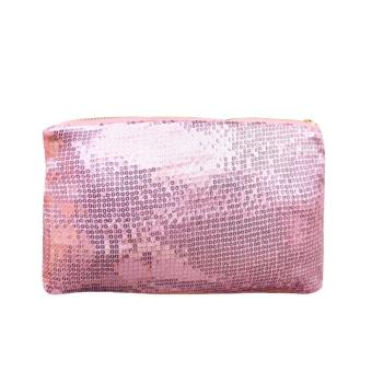 Women Clutch Dazzling Sequins Handbag Pink