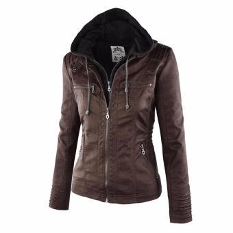 Women Fashion Winter Slim Zipper Leather Jacket - intl - 4