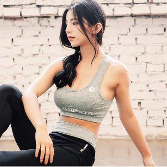 Women Fitness Yoga Set jacket & Bra & pants Sport Set GymClothes Sport wear Training Suit Running Outdoor - intl - 2