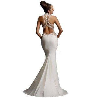 Women Formal Long Wedding Bridesmaid Evening Party Ball Prom Gown Cocktail Dress - intl - 2
