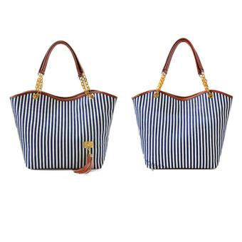 Women Hobo Navy Stripes bag Tote Bags