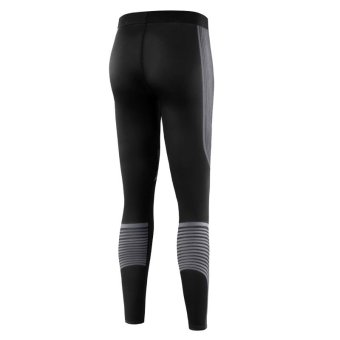 Women Jogging Compression Leggings Baselayer Cool Dry SportsRunning Tights Fitness Gym Pants Trousers - grey - intl - 4