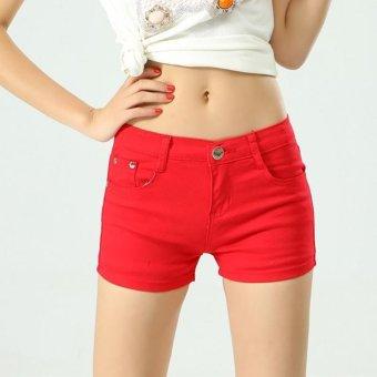 Women Ladies Candy Color Shorts Summer Denim Short Pant Jeans -intl - 5