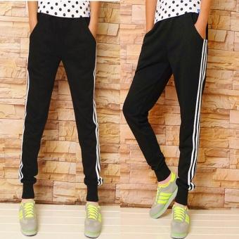 Women Ladies Casual Sport Pant Elastic Waist Trousers RunningJogging Plus Size - intl - 2