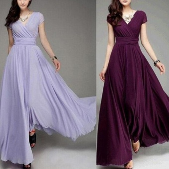 Women Long Formal Evening Prom Party Bridesmaid Chiffon Ball Gown Cocktail Dress - intl - 2