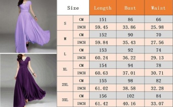 Women Long Formal Evening Prom Party Bridesmaid Chiffon Ball GownCocktail Dress - intl - 4