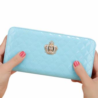 Women Long Wallet Crown Purse Bag Clutch Wallets Phone Handbag(SkyBlue) - intl - 2