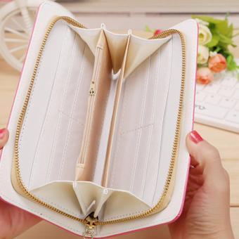 Women Long Wallet Crown Purse Bag Clutch Wallets Phone Handbag(SkyBlue) - intl - 3