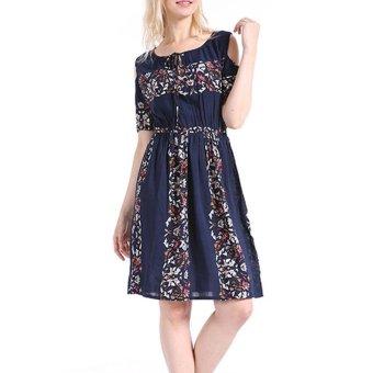 Women Maxi Dress Short Sleeve Plus Size 6XL Bodycon Party Dresses - intl - 2