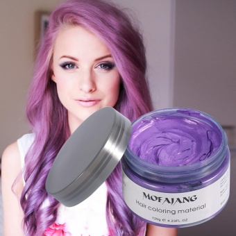 Women Men Disposable Hairstyle Modeling Hair Coloring Wax(Purple) -intl