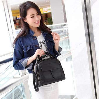 Women Messenger Bag Vintage Bag Tote Shell Bolsas Lady Pouch(black) - 4