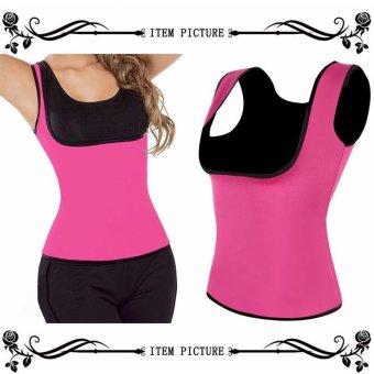 Women Neoprene Slimming Body Thermo Shaper Hot Shapers Vest ReduTops Chest Abdomen Workout Fat Burner Sweat Bodysuit Corset - intl - 2