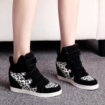 Women Shoes Autumn Winter Hidden Heel Flock Fashion Wedge Casual Shoes - intl - 4