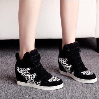 Women Shoes Autumn Winter Hidden Heel Flock Fashion Wedge Casual Shoes - intl - 3