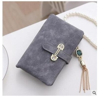 Women Short Purse Fashion Retro Matte Stitching Wallet Clutch WomenCasual Hasp Dollar Price Wallet Handbag Army Green - intl - 3