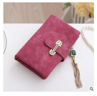 Women Short Purse Fashion Retro Matte Stitching Wallet Clutch WomenCasual Hasp Dollar Price Wallet Handbag Army Green - intl - 2