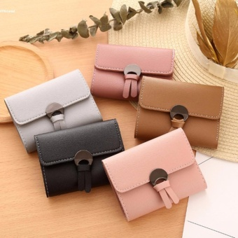 Women Simple Three Folded Coin Purse Small Wallet Pocket Credit Cards Organizer - intl - 2