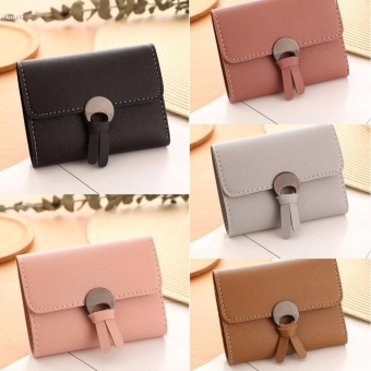 Women Simple Three Folded Coin Purse Small Wallet Pocket Credit Cards Organizer - intl - 3