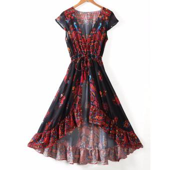 Women Summer Vintage Boho Long Maxi Evening Party Beach Dress Sundress - intl - 2