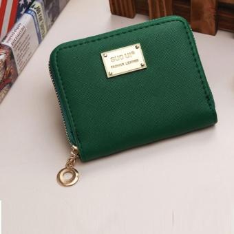 Philippines | Women Wallet Pu Leather Mini Coin Purses Small Zipper Short WalletsID Credit Card Holders Fashion Cute Girls Dark Green - intl Price ...