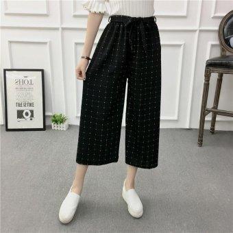 Women Wide Leg Harem Pants Female bell-bottomed Pant Elastic WaistLoose Trousers - intl - 5