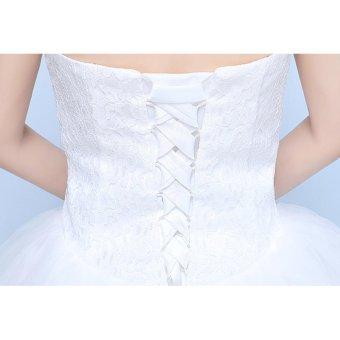 Women's Ball Gown Bridal Sweetheart Lace Wedding Dress-White - intl - 5