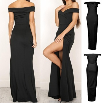 Women's Formal Long Ball Gown Party Prom Cocktail Bridesmaid Evening Maxi Dress - intl Color Black - 4