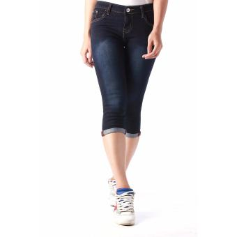 Women's Plain Easy Fit Cropped Jeans