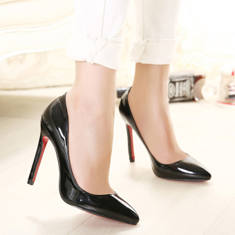 Women's Pointed Toe Stiletto Pumps Party High Heels Black - intl - 4