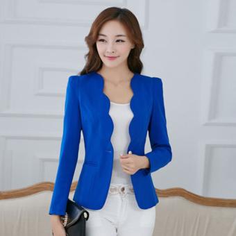 Women's Slim Business Blazer Blue - 3