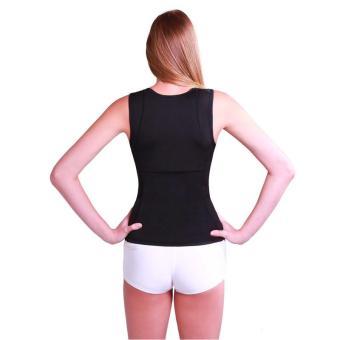 Women's Slimming Vest Hot Sweat Body Shaper Shirt for Weight Loss Tank Top Neoprene Vest Redu Tops - intl - 4