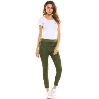Women's Sports Harem Pants (Green) - 3