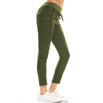 Women's Sports Harem Pants (Green) - 2