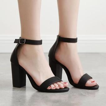Women's Square Heel Shoes Slim Sandals - intl - 4