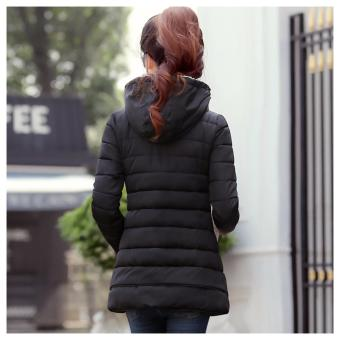 Women'S Winter Jacket Down Cotton Jacket Slim Casual Ladies Coat (Black) - intl - 2