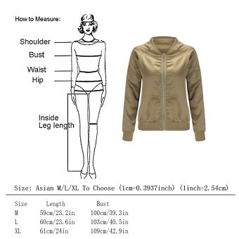 WomenPadded Bober Jackset Vintage Zip Up Biker Coat (Back) - 5