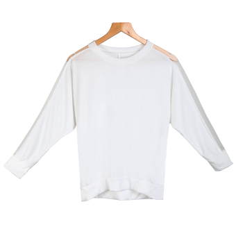 Women's Blouse T-shirt Cotton Batwing Lace Sleeve