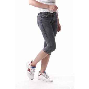Women's Curvy Grey Capri Short - 4