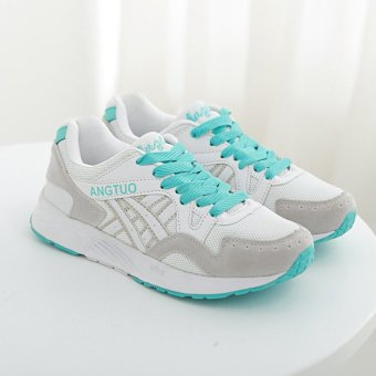 Women's Fashion Casual Sneakers Breathable Running Shoes Green (Intl) - picture 2