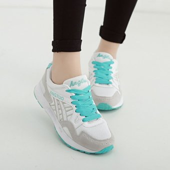 Women's Fashion Casual Sneakers Breathable Running Shoes Green (Intl)