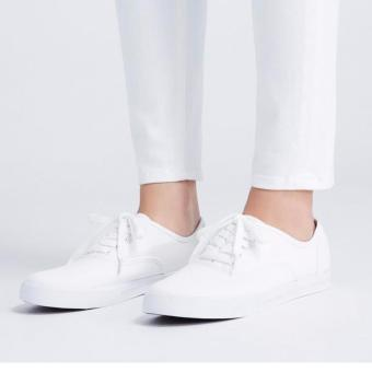 Women's Fashion Sneakers With Lace - White (Big Sizes Available) - 4