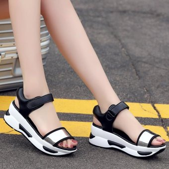 Women's Fashion Wedge Sandals Casual shoes High-heeled sandals -intl - 5