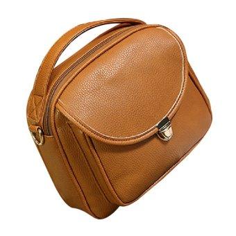 Women's Korean Candy Color Mini Shoulder Bags Handbag (Chocolate)