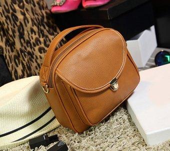 Women's Korean Candy Color Mini Shoulder Bags Handbag (Chocolate) - picture 2