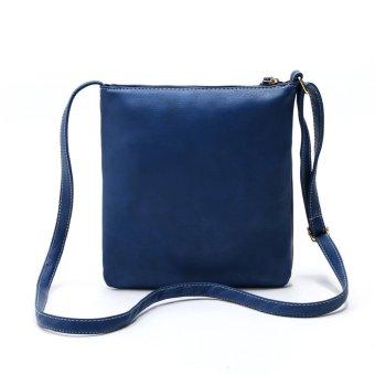 Women's Leather Satchel Cross Body Shoulder Messenger Bag Blue - picture 2
