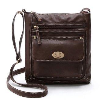Women's Leather Satchel Cross Body Shoulder Messenger Bag Coffee
