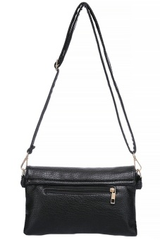 Women's Leather Sling Bag - Black - picture 2