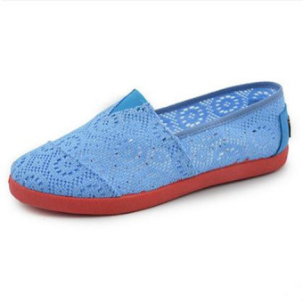 Women;s Non-slip Breathable Mello Flat Tennis Shoes (Sky blue color)