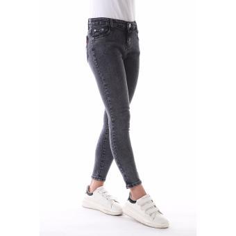 Women's Plain Grey Sexy Skinny Jeans - 5
